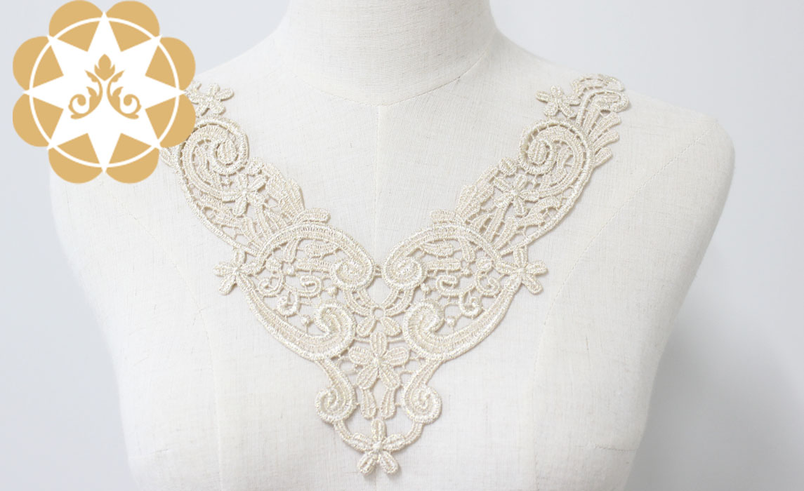 white lace appliques 24cm8cm for decorate Winsunemb-2