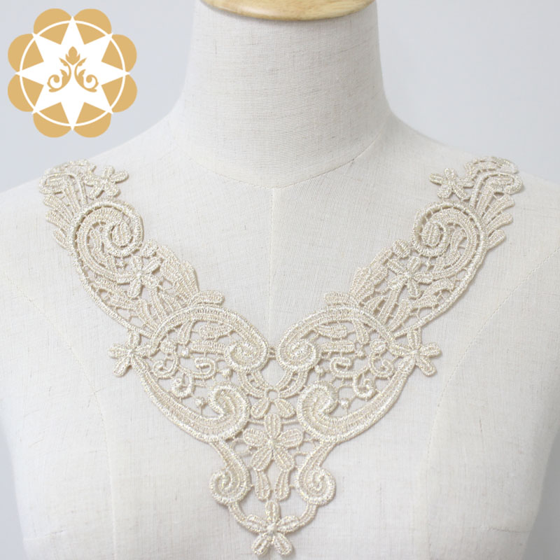 white lace appliques 24cm8cm for decorate Winsunemb-3