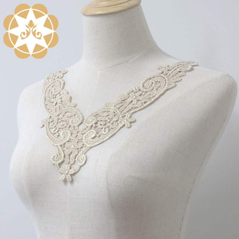 white lace appliques 24cm8cm for decorate Winsunemb-4
