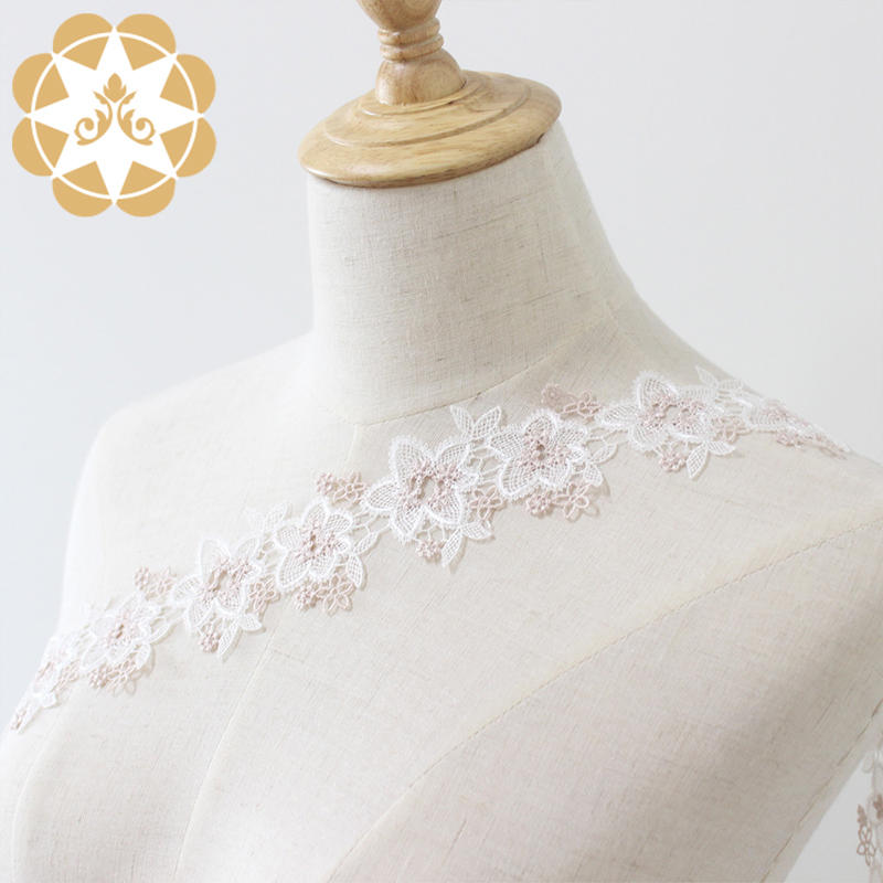 Winsunemb competitive price lace trim by the yard in china for lingerie