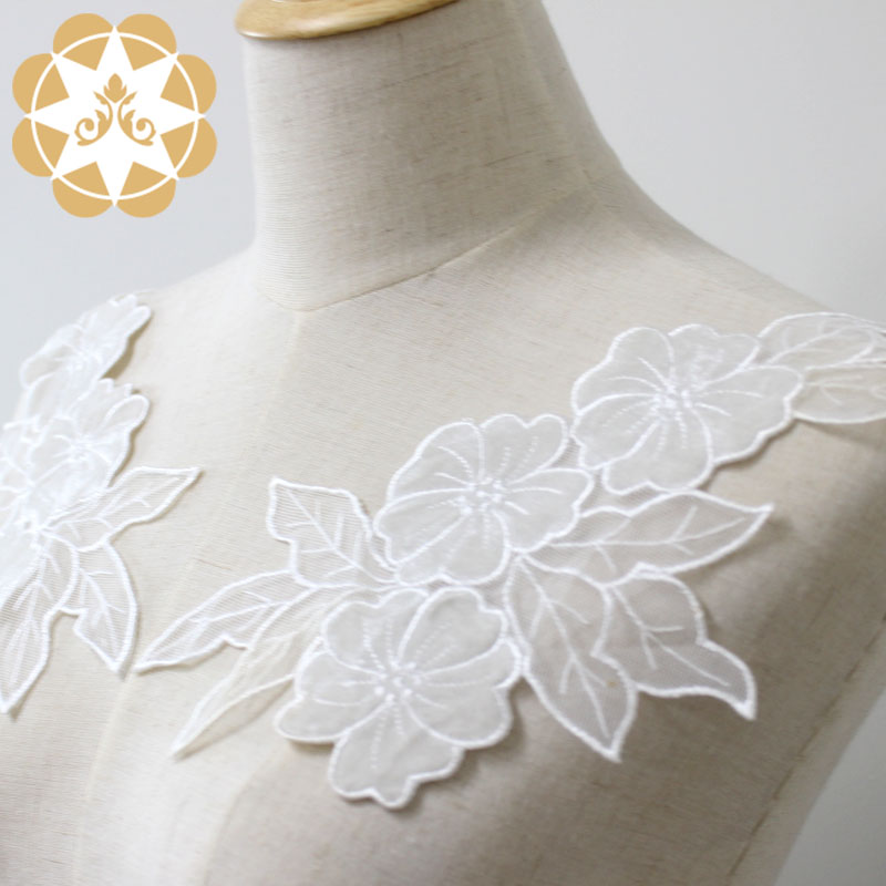 Winsunemb guipure embroidery lace motif directly sale for chest corsage-5