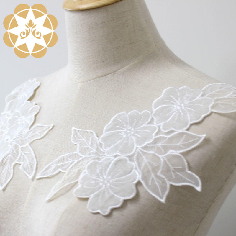 Winsunemb guipure embroidery lace motif directly sale for chest corsage