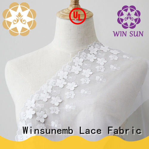 Winsunemb professional ivory lace for manufacturer for apparel