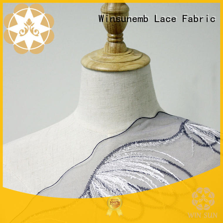 Wholesale pattern red lace fabric red Winsunemb Brand