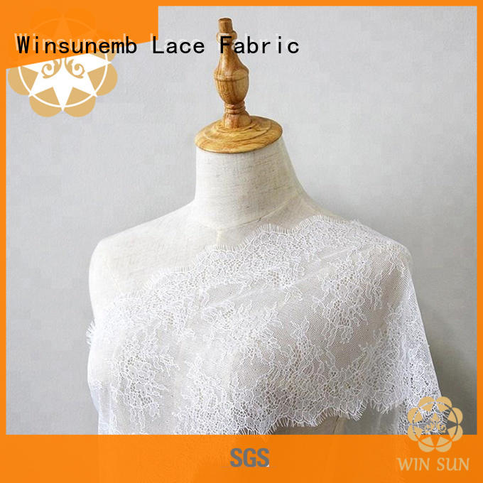 Winsunemb different color beaded lace fabric order now for underwear