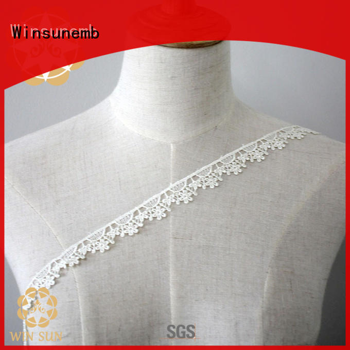Winsunemb exquisite lace fabric in china for fashion garment