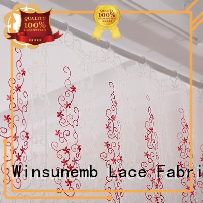 sublimation half room Embroidery Lace Curtains Winsunemb Brand