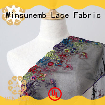 Winsunemb soft bridal lace fabric for manufacturer for underwear