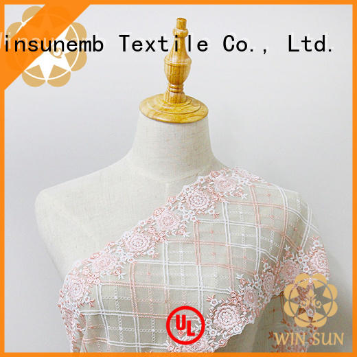 durable embroidered lace fabric by the yard fabric order now for apparel