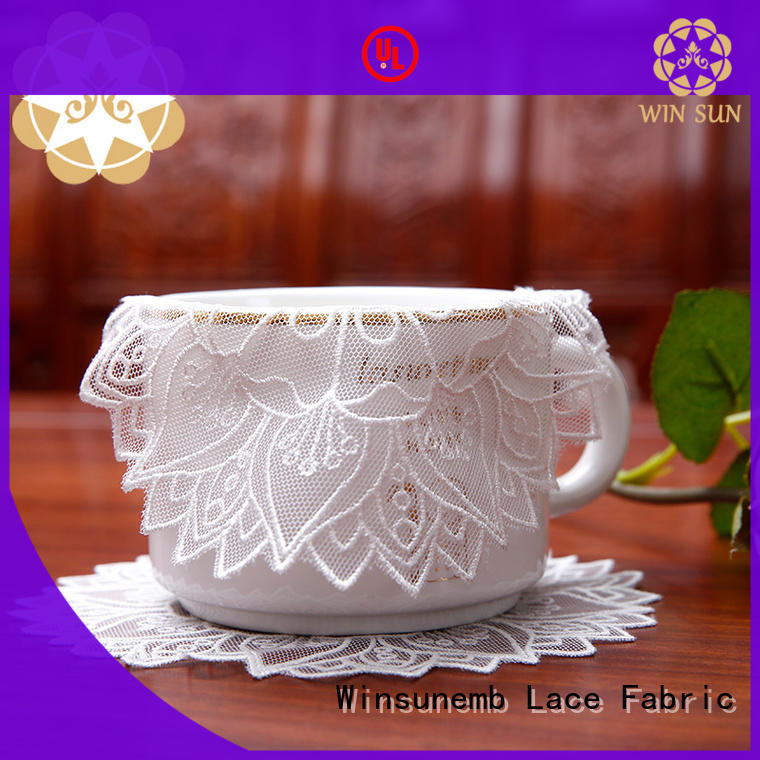 Winsunemb elegant lace placemats for manufacturer for dining tables