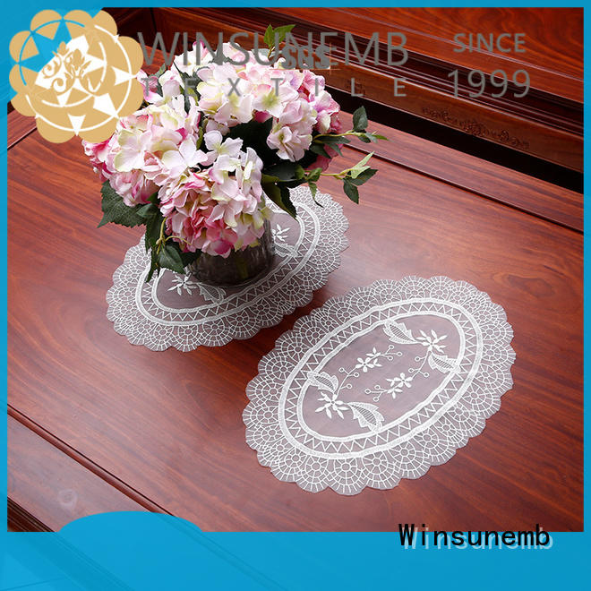 Winsunemb superb lace appliques bulk production for sideboards