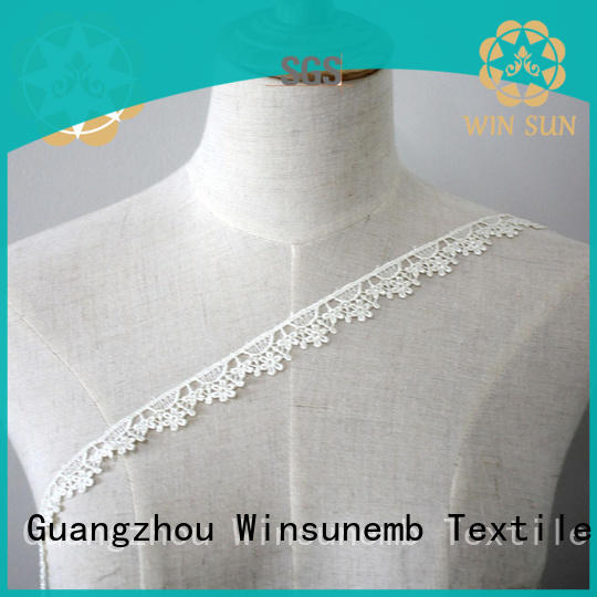 Winsunemb exquisite stretch lace trim for manufacturer for fashion garment