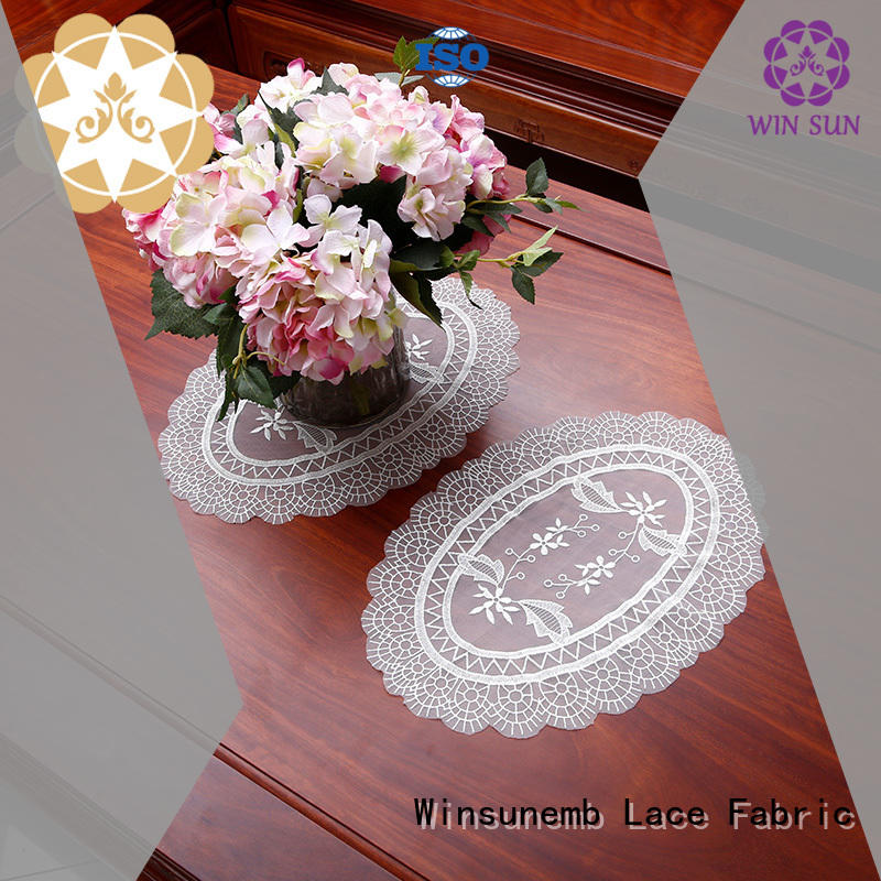 big beautiful chinese Winsunemb Brand where to buy lace doilies manufacture