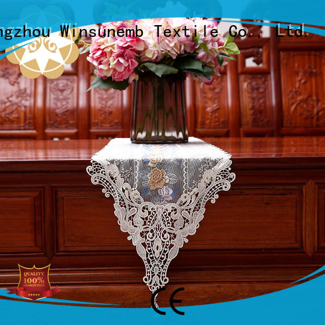 newest long white lace table runner Winsunemb manufacture