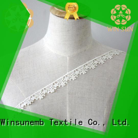 Winsunemb woman lace trim by the yard bulk production for fashion garment