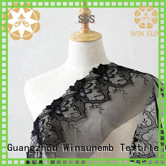 Winsunemb soft white lace fabric for underwear