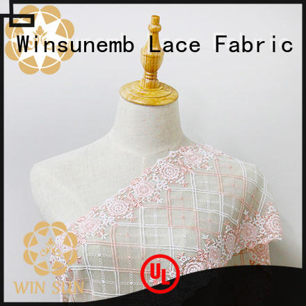 different color cotton lace fabric star producer for apparel