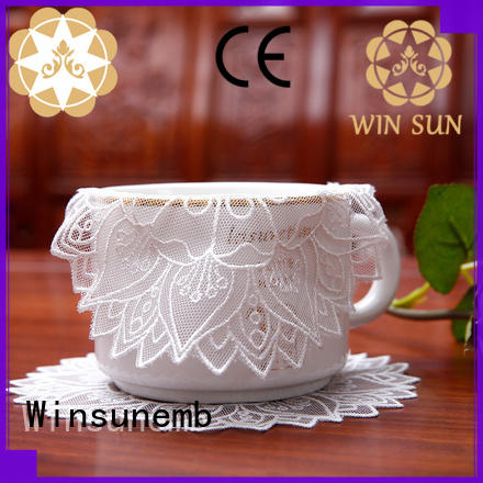 Winsunemb place lace doilies overseas market for sideboards