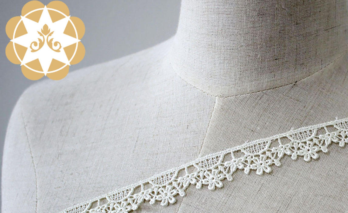 stretch lace chemical white Embroidery Lace Trimming manufacture