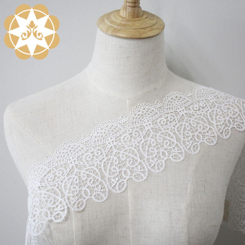 Chemical Embroidery Lace Trim Hollow Cut Lace Trim