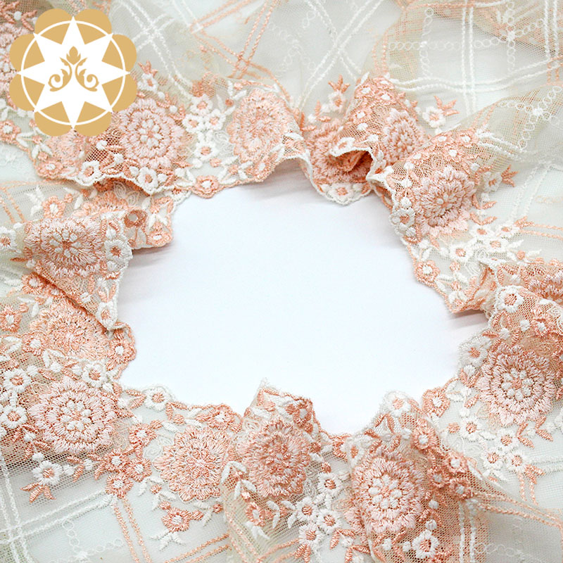 product-durable embroidered lace fabric by the yard fabric order now for apparel-Winsunemb-img