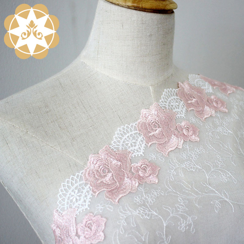 Winsunemb -Find Polyester Embroidery Lace Bright Flowers For Lingerie Wholesale-2