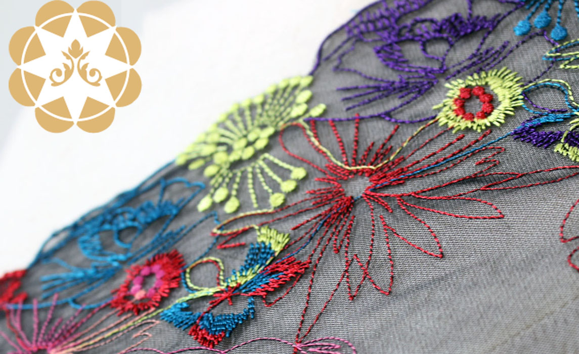 Winsunemb -Best Embroidery Lace Fabric Colorful Floral Lace For Lingeries-1