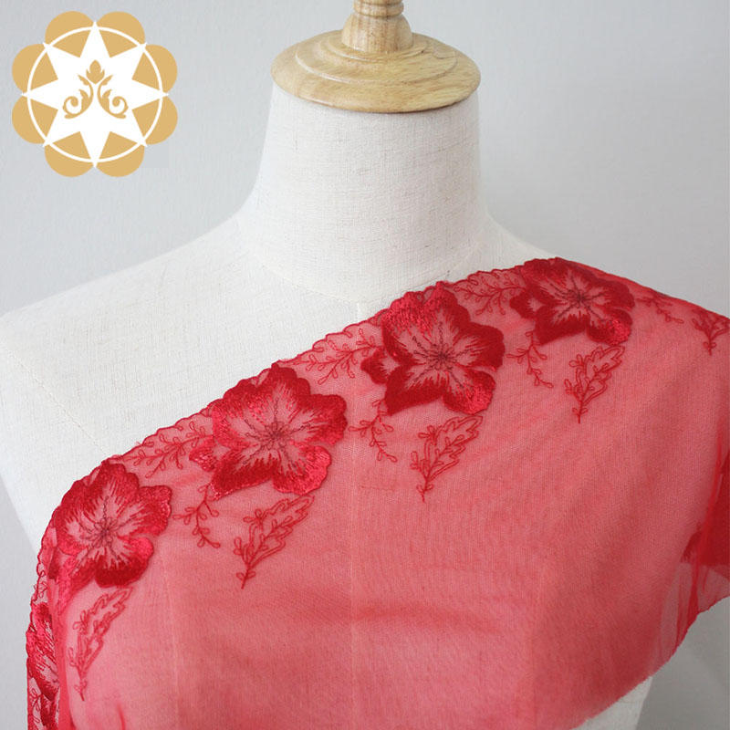 Embroidery lace fabric Net French Lace fabric