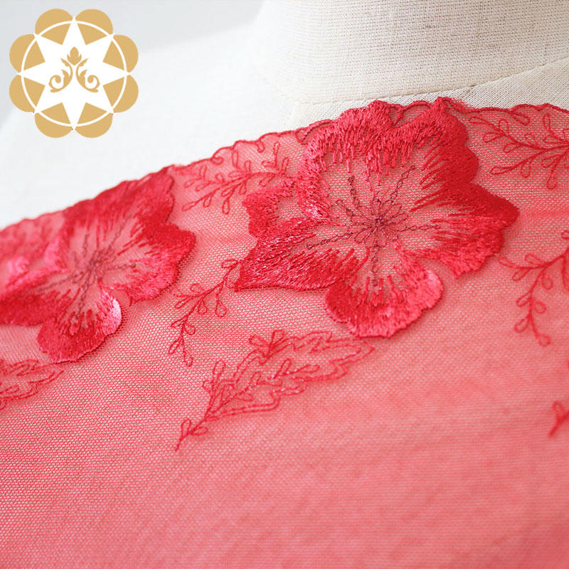 Winsunemb hollow ivory lace bulk production for apparel