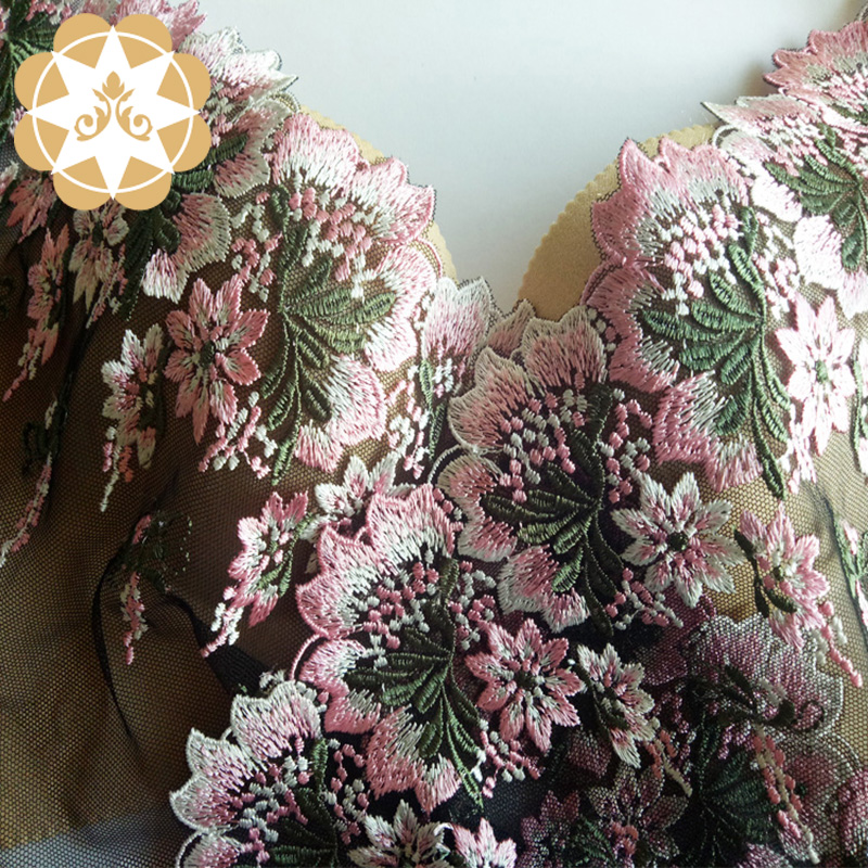 Winsunemb -Luxury Lace Manufacture | Embroidery Lace Graceful Floral Lace Fabric For
