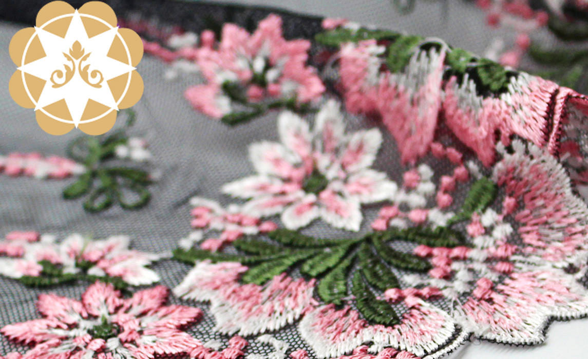 Embroidery lace Graceful Floral Lace Fabric for lingerie