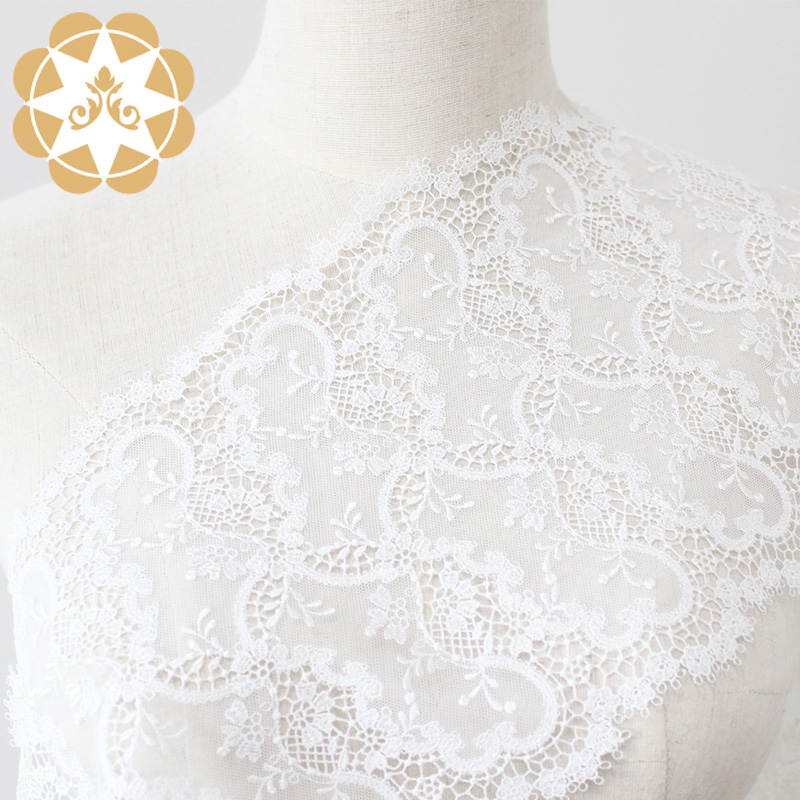 Winsunemb -Find Embroidery Lace Fabric Ivory Lace-2