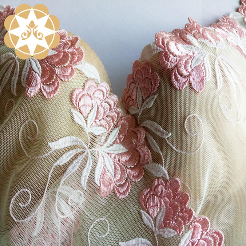 Embroidery lace Floral  Gowns Lingerie Lace