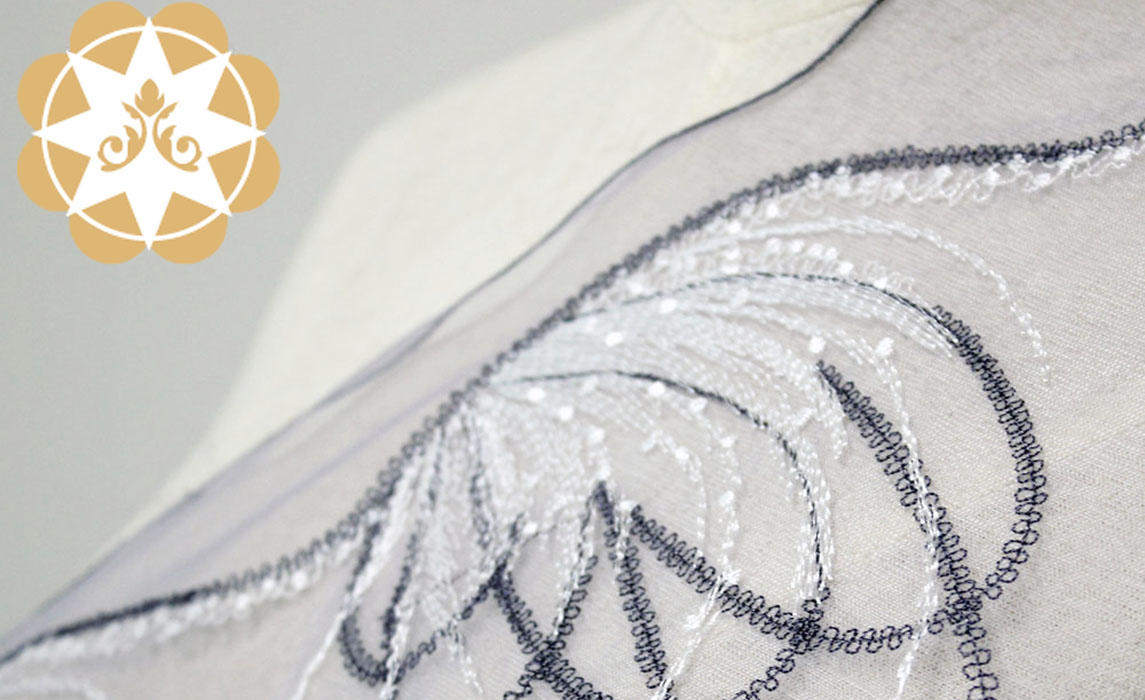 floral Embroidery Lace Fabric butterfly for apparel Winsunemb