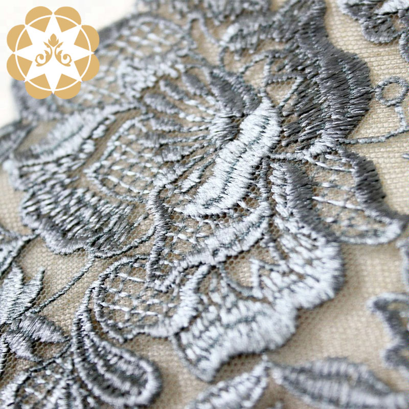 Winsunemb grey stretch lace fabric for manufacturer for apparel-Winsunemb-img-1