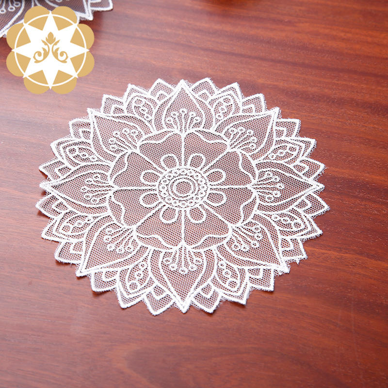 Lace Doilies :Chinese traditional design Lotus Doilies wholesale