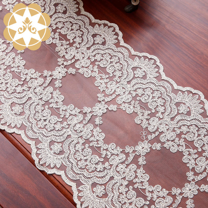 Winsunemb table lace table runners wedding bulk production for pianos