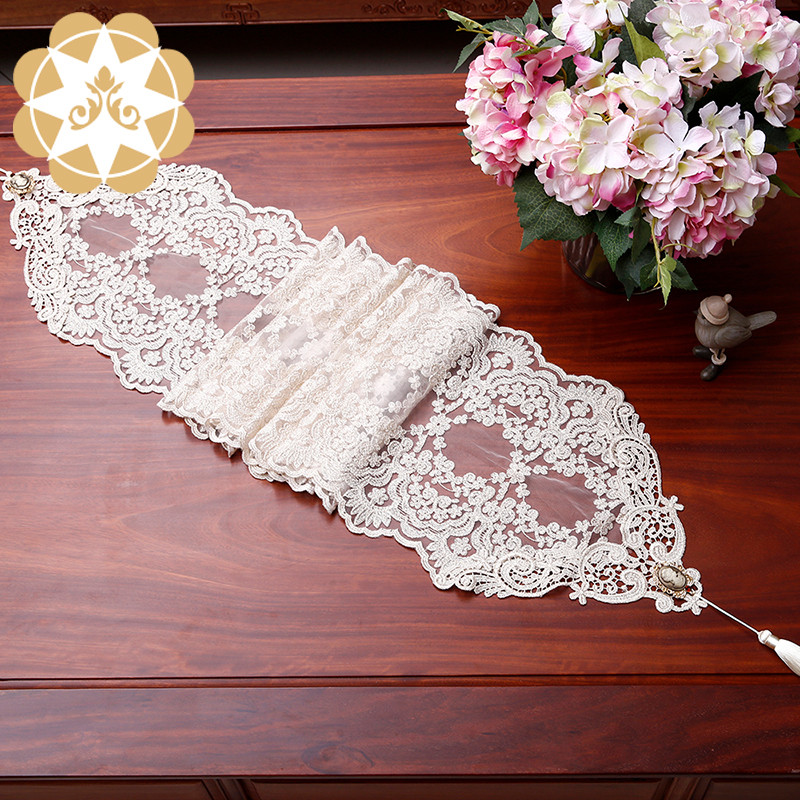 Winsunemb -Table Lace runner Table Decoration Embroidery Designs Lace