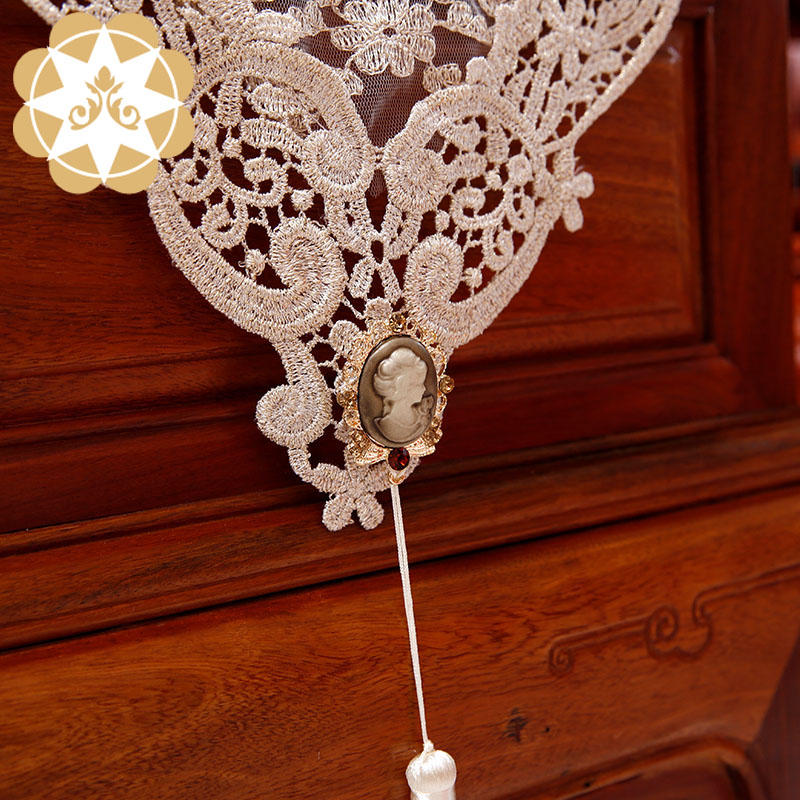 Tablerunner Table Decoration embroidery designs laceGold Yarn tablerunner Wedding Christmas or Party NO.P805