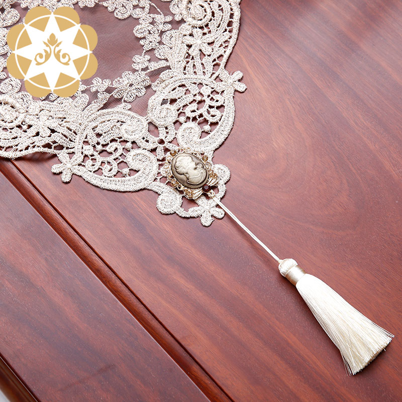 Winsunemb -lace table runners ,ivory lace table runner | Winsunemb