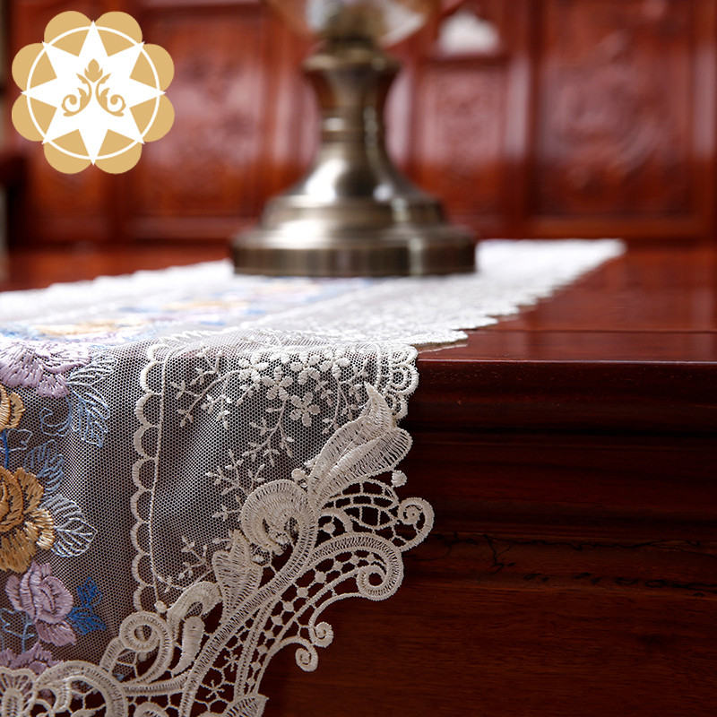 competitive price lace table runners wedding table runner order now for sideboards-1