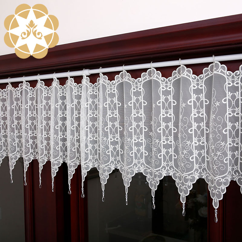 Winsunemb -Professional Half Window Curtains Kitchen Lace Drapes