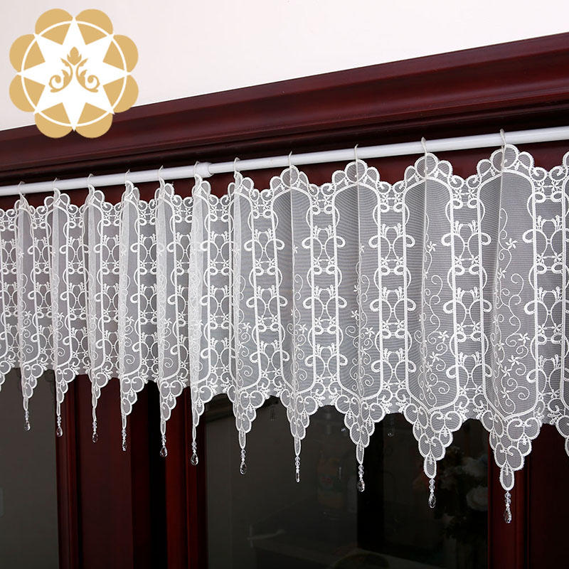 outstanding lace curtain embroidery bulk production for window