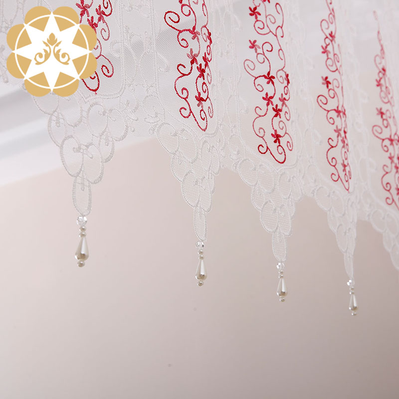 Winsunemb -Professional Half Window Curtains Kitchen Lace Drapes-2