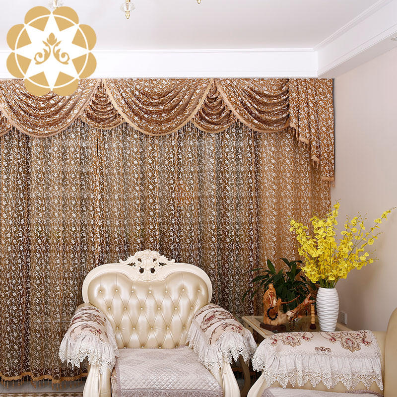 Embroidery Designs Lace Colorful Living Room Curtain China supplier 2018 Wholesaling