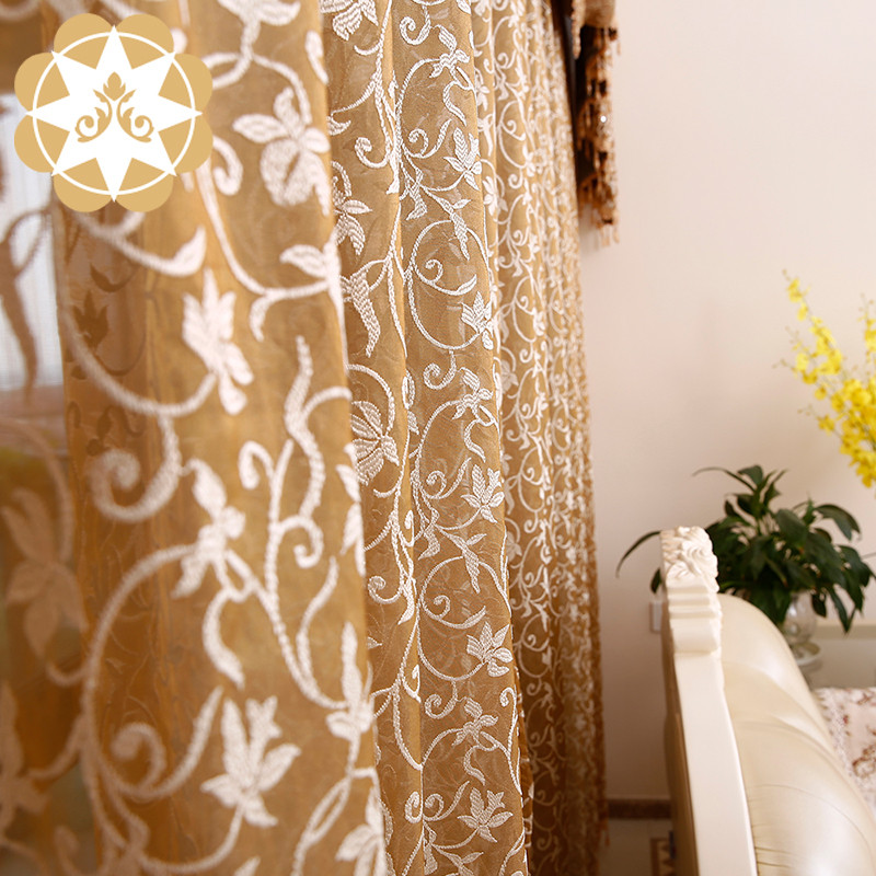 Winsunemb -Best Wholesaling Room Curtain Embroidery Designs Lace Colorful
