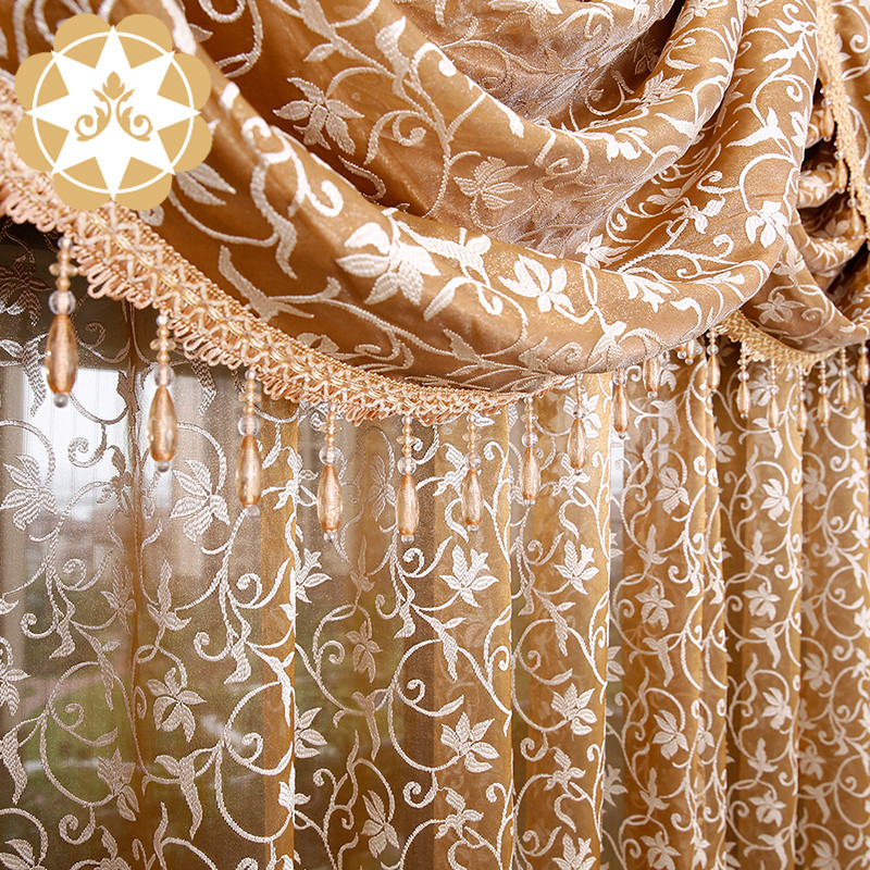 Winsunemb -Find Lace Curtain Embroidery Designs Lace Colorful Living Room Curtain-4