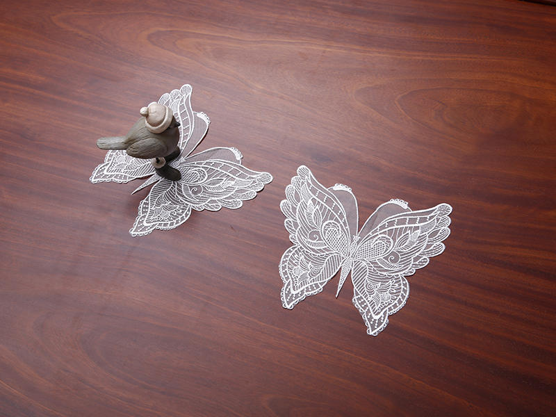 This butterfly-shaped coaster will adorn your table