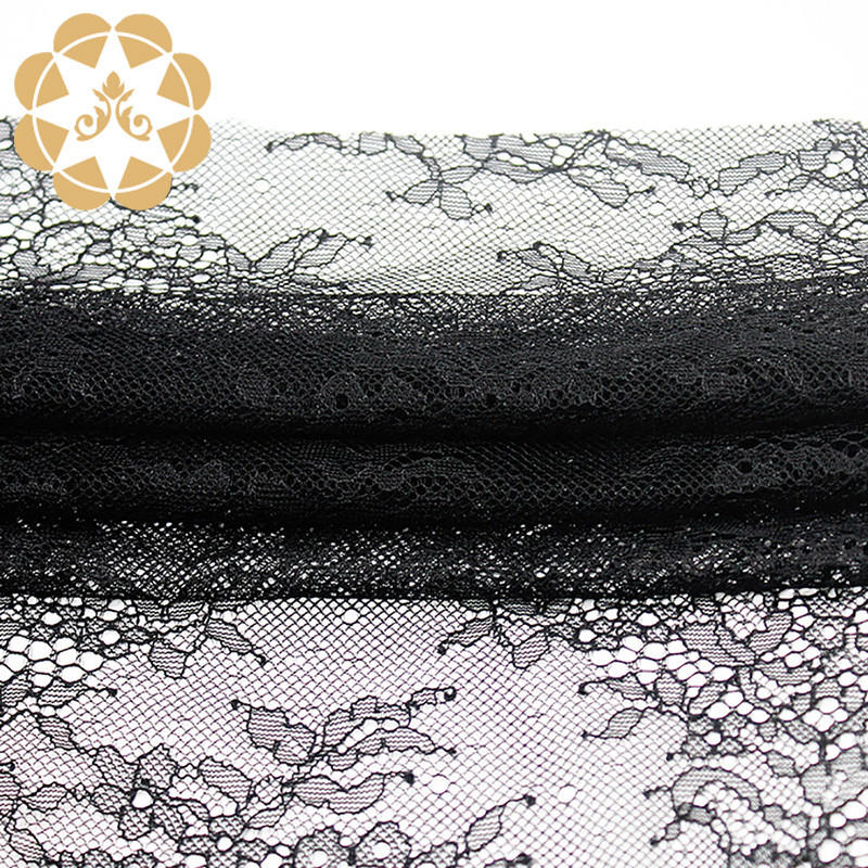 mesh Embroidery Lace Fabric order now for apparel-1
