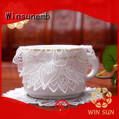 Winsunemb elegant lace doilies bulk overseas market for dining tables
